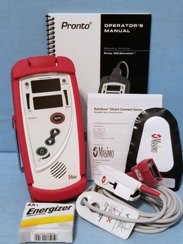 Masimo Pronto Pulse CO-Oximeter SpO2, SpHb – New Adult Sensor Ref 9167 Excellent