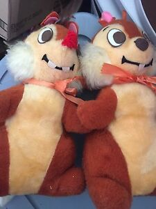 Vintage CHIP AND DALE STUFFIES