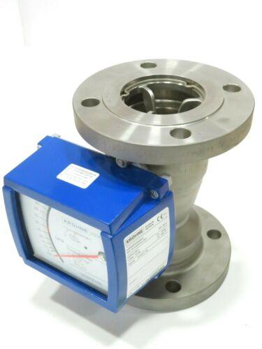 """3"""" Krohne H250/RR/M9/K2 CL150 Stainless Steel Variable Area Flowmeter K85.1 NEW"""
