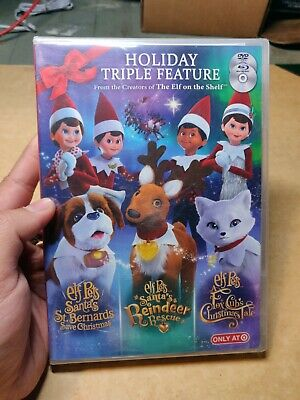 ELF PETS Holiday Triple Feature DVD (Creators of Elf on a Shelf), New Sealed Box