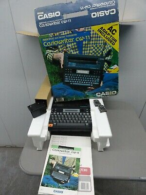 Casiowriter Cw-11 Personal Electronic Typewriter Word Processor