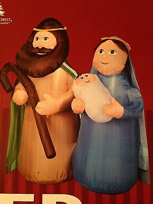 New Christmas  4  Holy Family Nativity Airblown/inflatable Lighted  Decoration