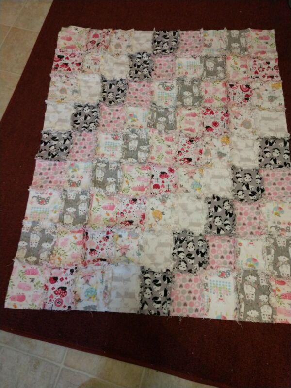 Handmade Baby Rag Quilt - Girl