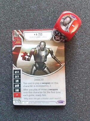 K-2SO #26 Legendary Red Character Star Wars Destiny Empire at War EaW