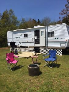 Free Fire Wood 32'Camper Rent
