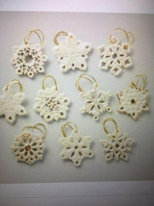 Lenox Miniatures Snowflake Ornaments BRAND NEW IN BOX