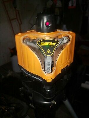 Johnson 40-0918 Manual Leveling Rotary Laser Level In Case - Used -- Cv071