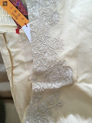 100% Original Kayseria Ready To Wear Embroidered Straight Pants SIZE L