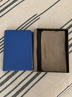 Cobalt Blue Leatherology Genuine Leather Notebook Portfolio