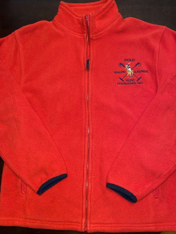 Polo, Ralph Lauren Boys Size Medium, 12-14 Red Fleece Jacket