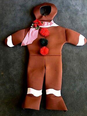GINGERBREAD MAN HALLOWEEN COSTUME RASTA IMPOSTA ONE SIZE PADDED FOAM CHRISTMAS - Gingerbreadman Costume