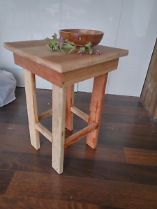 Rustic raw timber side table/ lamp table Shortland Newcastle Area Preview