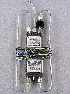 2 SMA 26.5 GHz Relays, Semi Rigid Coaxes and 14 dB 5 Watt Attenuator Assembly