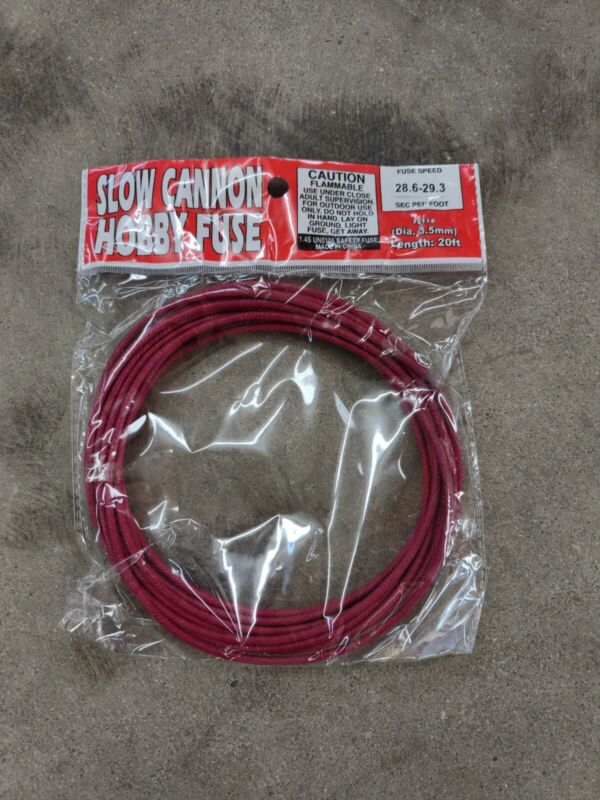 Slow Cannon Hobby Fuse Safety Wick 20 foot roll Hobby Fuze