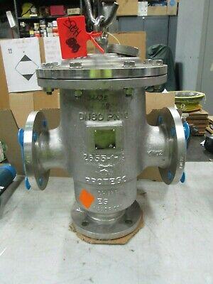Protego Ss Pressure Vacuum Relief Valve 3 150 Flange Mod Dvzu-80 New