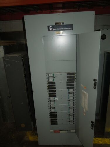 GE Spectra Series 250A 3ph 3W 480V MLO Panel w/ Distribution Breakers NEMA 1