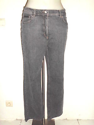 JEANS FEMME ZERRES CHINE GRIS DELAVER COUPE DROITE TYPE 501 TAILLE 38