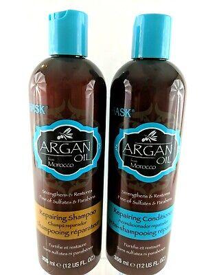 Hask Argan Oil Shampoo & Conditioner Set 12oz Bottles