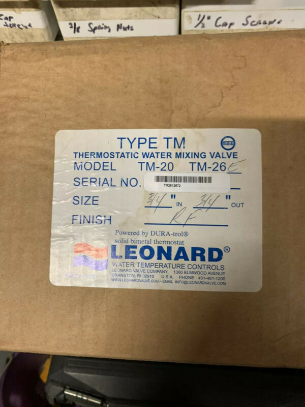 """Leonard Megatron Thermostatic Mixing Valve , 3/4"""" Inlets/outlet"""