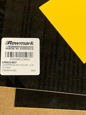 4 Quarter Sheets Laser Engraveable Sheet Stock Black Yellow 12x24