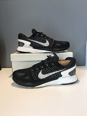 Nike LunarGlide 7 Running Shoes Black White Women's US 10 Sneakers 747356 001