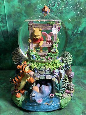 Large Winnie The Pooh Musical Wayer Globe Eeyore In Tunnel