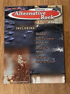 - Anthology of Alternative Rock Song Book 1996 Music Chord Charts Lyrics 34 Songs