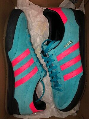 adidas Jeans Trainers Size 4.5 Pink And Blue