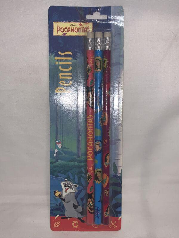 New Vintage Disney Pocahontas Pencils by Impact Inc.