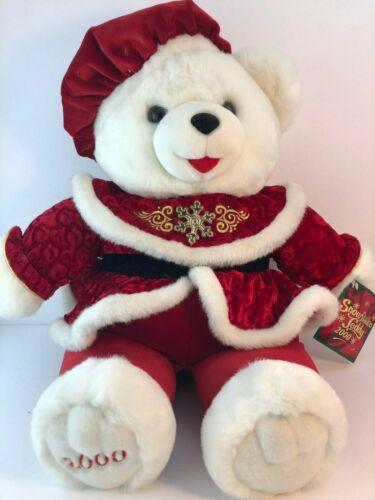 "2000 Snowflake Teddy NWT Red Beret Jacket 25"""