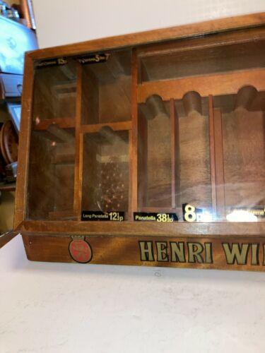 "Henri Wintermans Cigar Store Wooden/Glass Counter Display Holland 24"" x 13 1/2"""