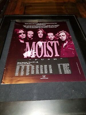 Moist Push Rare Original Radio Promo Poster Ad Framed!
