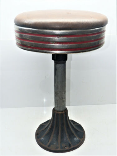 "Vintage 22"" Swivel Stool Diner/Soda Fountain/ Drug Store (1 of 6) INV14936"