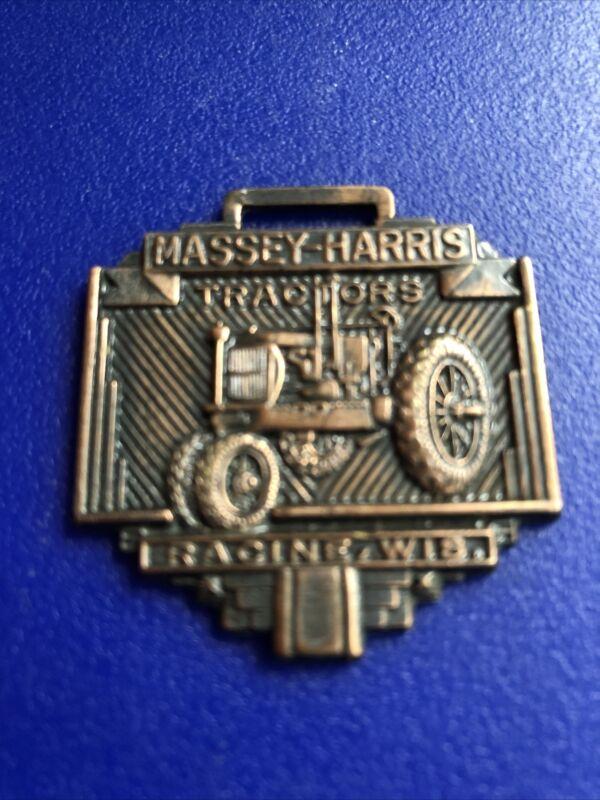vintage antique pocket watch fob MASSEY-HARRIS Tractor
