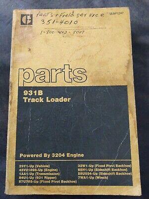 Cat Caterpillar 931b Track Loader Parts Book