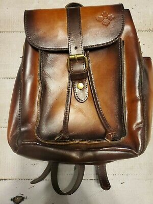 Patricia Nash Aberdeen Tan Leather Backpack New W/O Tags