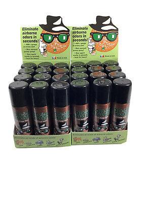4 NEW Odor Assassin Odor Control SprayS Fresh Orange 2.2 Oz 400 SPRAYS PER CAN