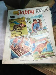 Vintage John Sands 4 x Skippy Frame Puzzles boxed Dingley Village Kingston Area Preview