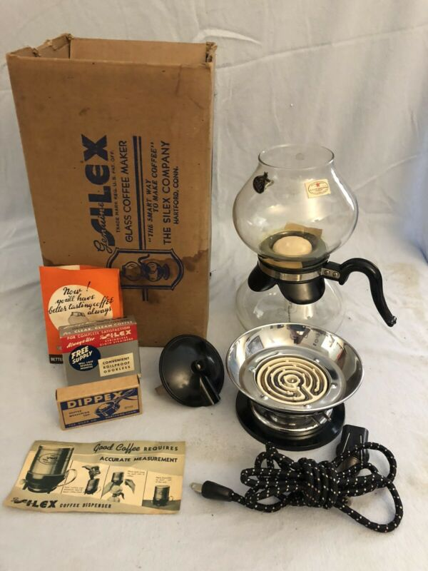 NOS Silex Coffee Maker Vacuum Pot Pyrex Glass Vintage 8 Cup NEW NEVER USED w Box