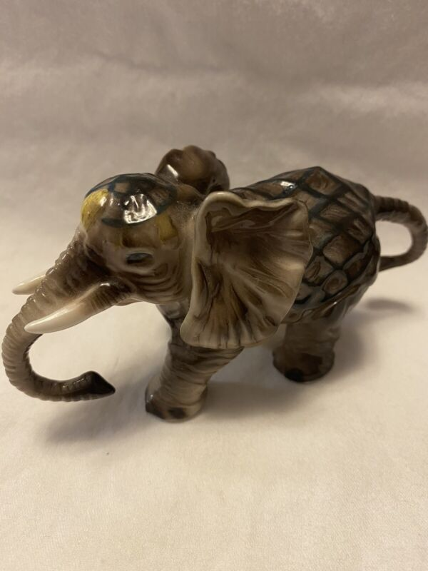 """ELEPHANT FIGURINE STATUE by HERCO COLLECTION Designed by Faith - 4 1/2"""" X 2 1/2"""""""