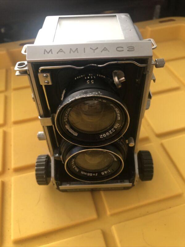 Mamiya C3 TLR Camera w/ Mamiya-Sekor 55mm 1:4.5  Medium Format