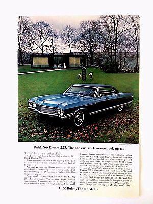 1966 Buick Electra 225 4 Door Coupe Original Print Ad GM Automobile