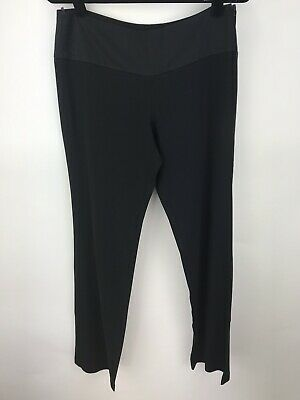 Sisley Womens Black Acetate Flat Front Wide Leg Dress Pants Size EUR 42 Acetate Flat Front Pants