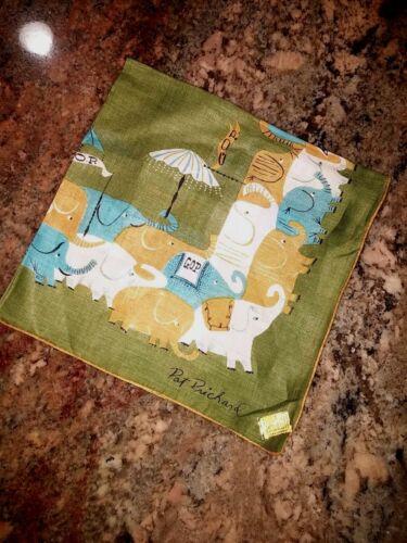 "Pat Prichard GOP Linen Republican Handkerchief 15""sq"