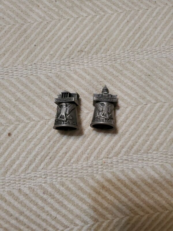 2 Pewter Thimbles- US Capitol and White House