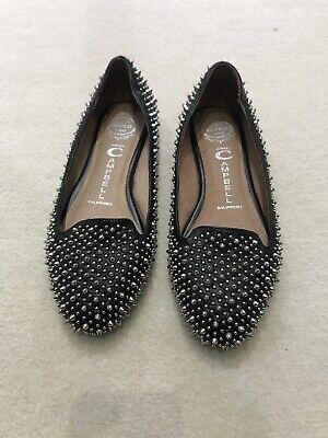 Jeffrey Campbell Black Silver Flat Shoes Size UK 4 (US 6) RRP £125