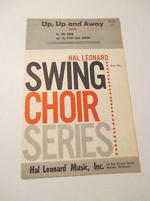 Vintage Up Up & Away Hal Leonard Swing Choir Songs Piano Music Book