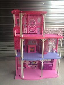 3 story Barbie house with accessories