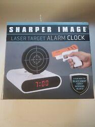NIB Sharper Image Laser Target Alarm Clock