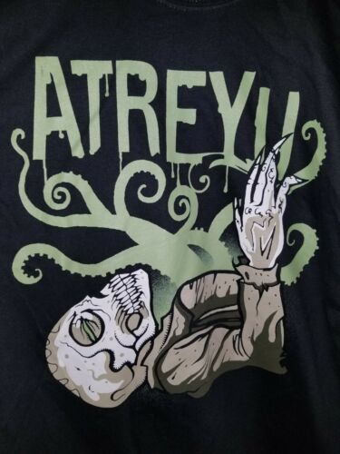 Atreyu Octopus Black T-Shirt Youth Large Official Licensed Band Merchandise NEW